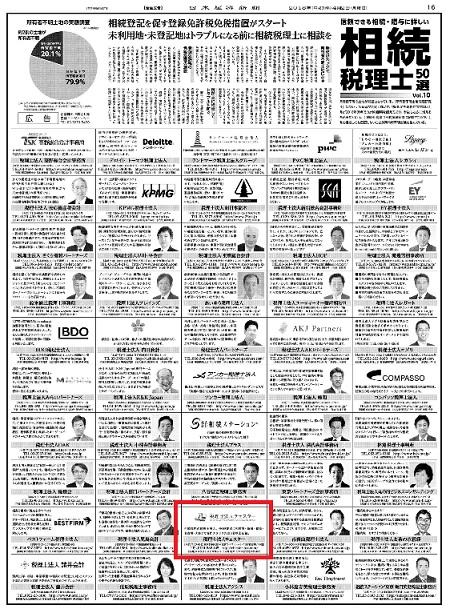 【新聞】日経新聞朝刊(4月2日付)に掲載されました。