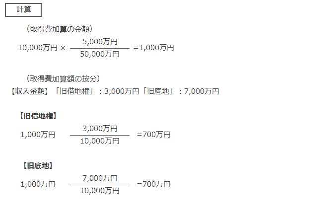 相続税の取得費加算の特例の算定単位