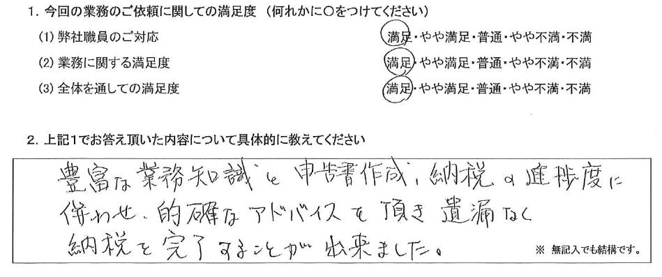 東京 60代・男性(No.442)