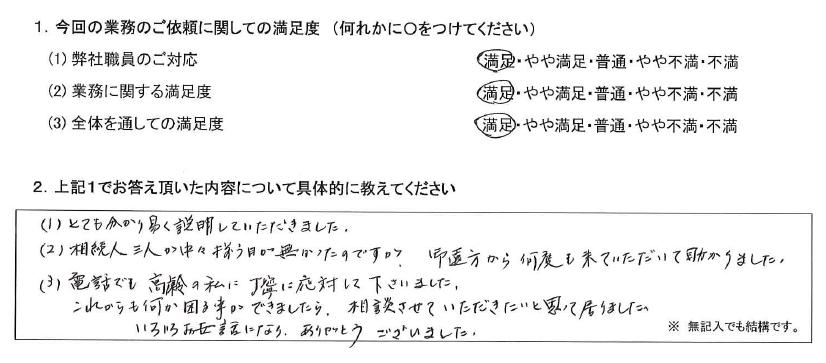 東京 70代・女性(No.399)