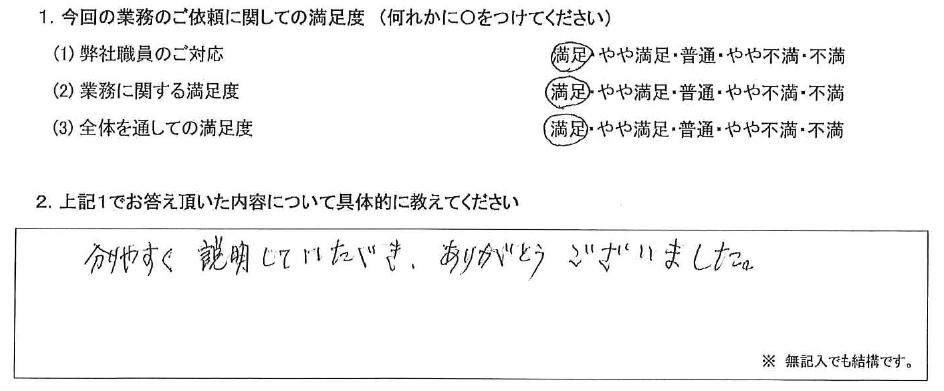 東京 80代・女性(No.487)
