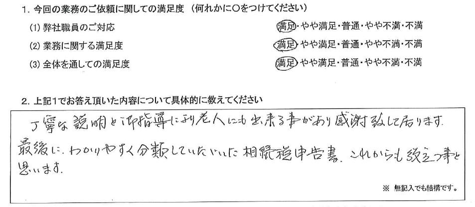 大阪 70代・女性(No.406)