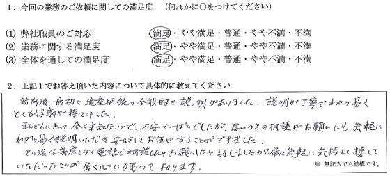 千葉 20代・男性(No.162)