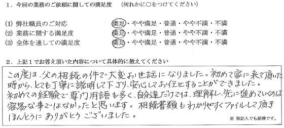 神奈川 50代・女性(No.190)