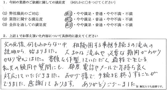 東京 50代・女性(No.074)