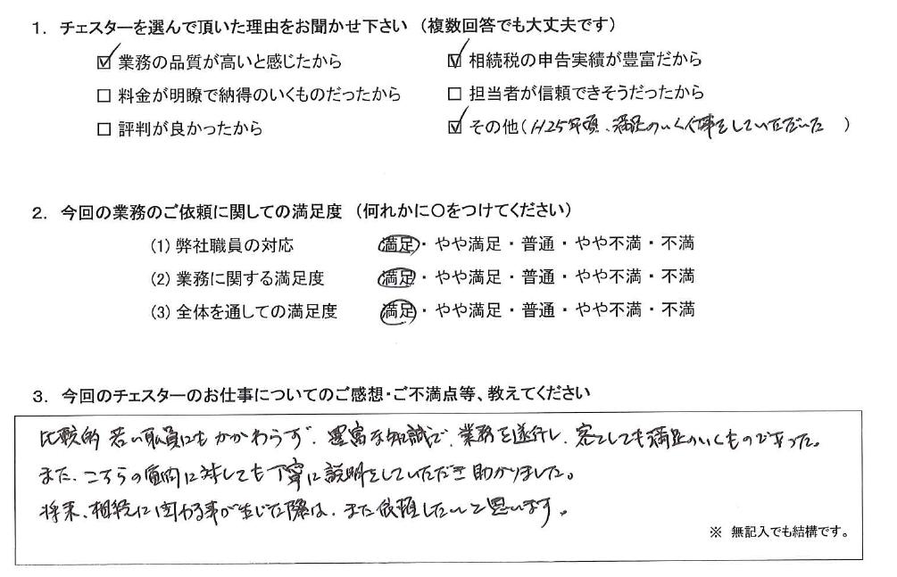 東京 70代・男性(No.1080)