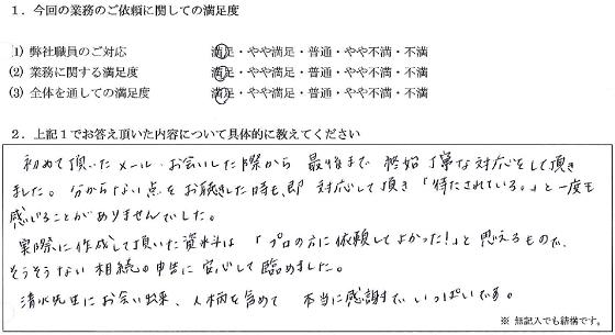 神奈川 30代・女性(No.062)