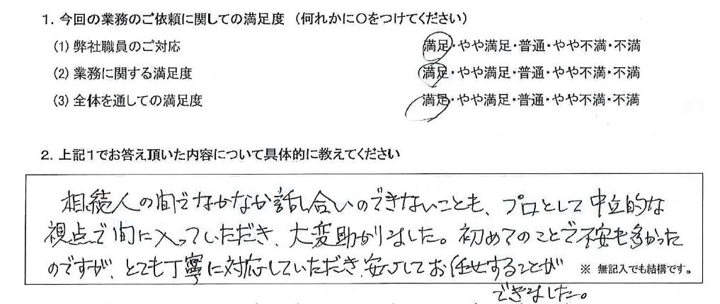 東京 50代・女性(No.590)