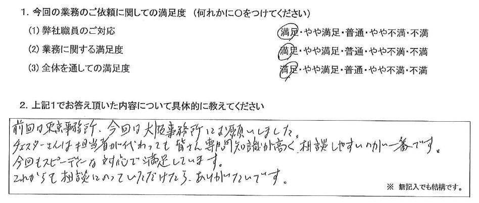 大阪 50代・男性(No.444)