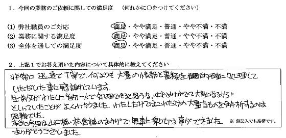 神奈川 40代・女性(No.198)