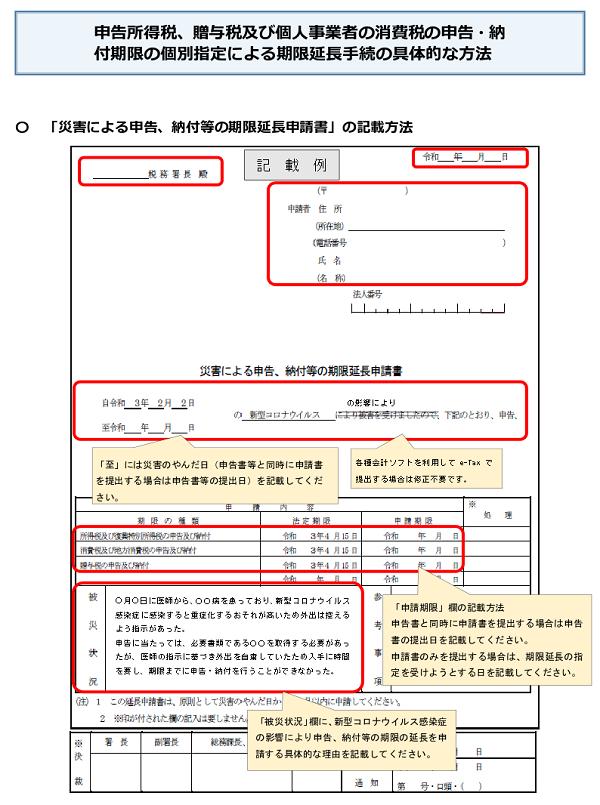 【コロナ関連】申告期限の個別延長の手続き方法が変更(令和3年4月16日以降)