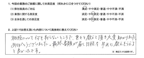 東京 50代・女性(No.270)