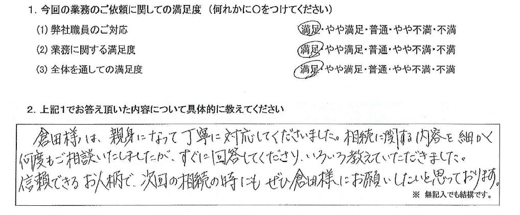 神奈川 50代・女性(No.602)