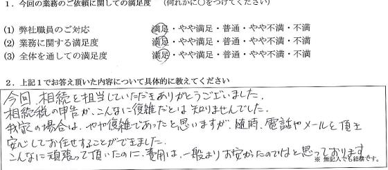 東京 50代・女性(No.153)