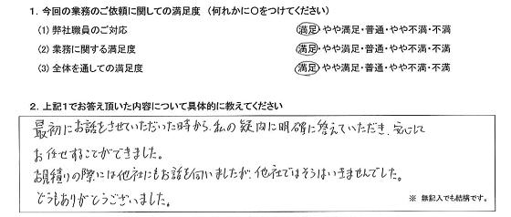 大阪 40代・男性(No.277)