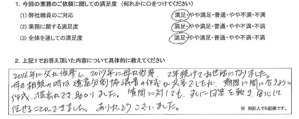 神奈川 50代・女性(No.416)