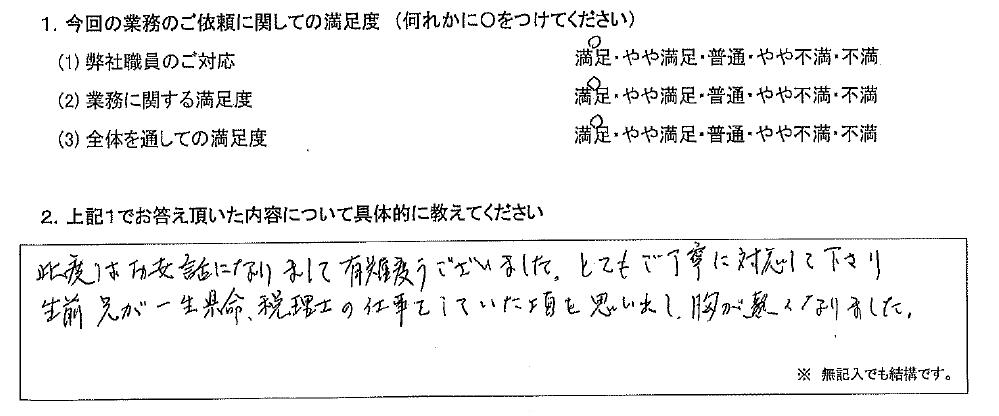 大阪 70代・女性(No.634)