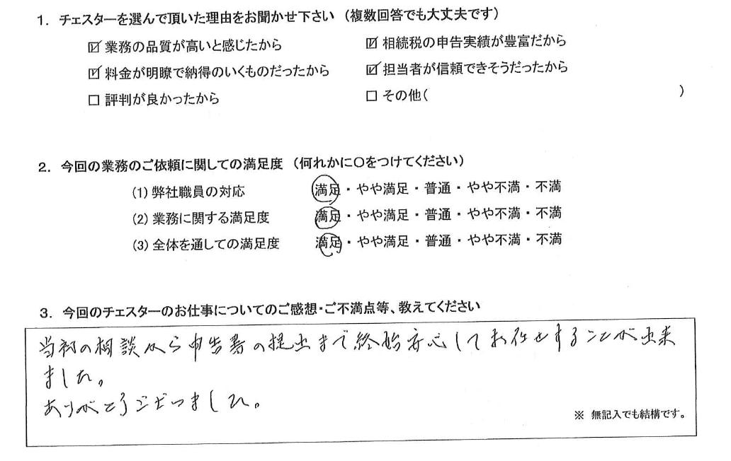 東京 50代・男性(No.807)