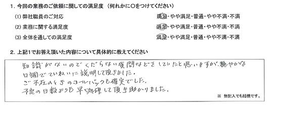 東京 50代・女性(No.304)