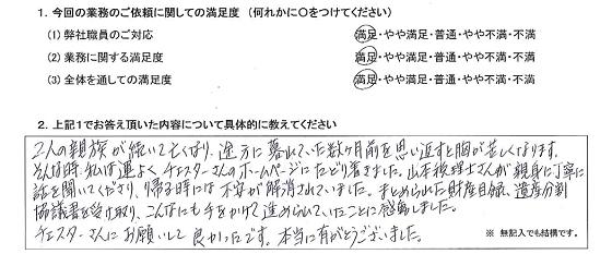 兵庫 50代・女性(No.272)