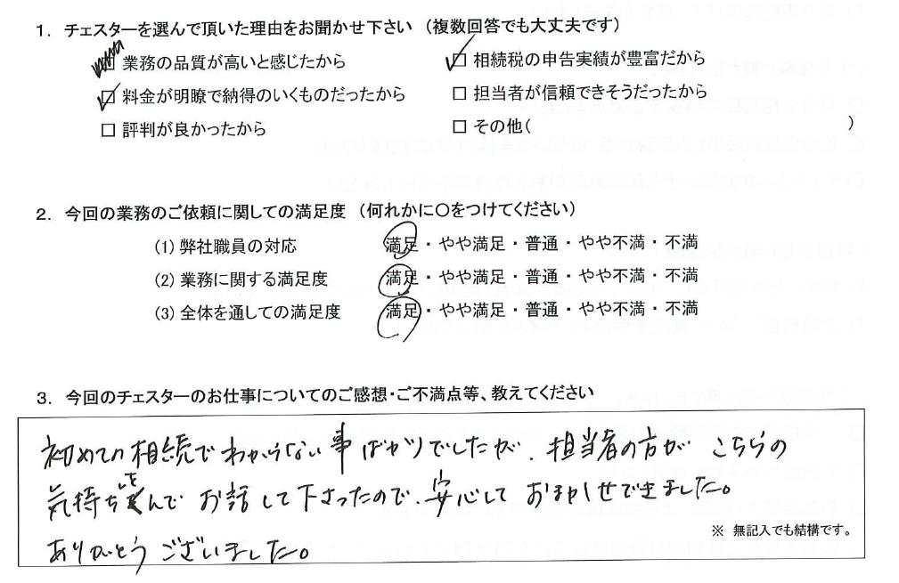 東京 50代・女性(No.1241)