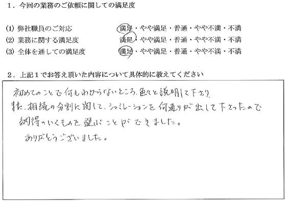 東京 50代・女性(No.048)