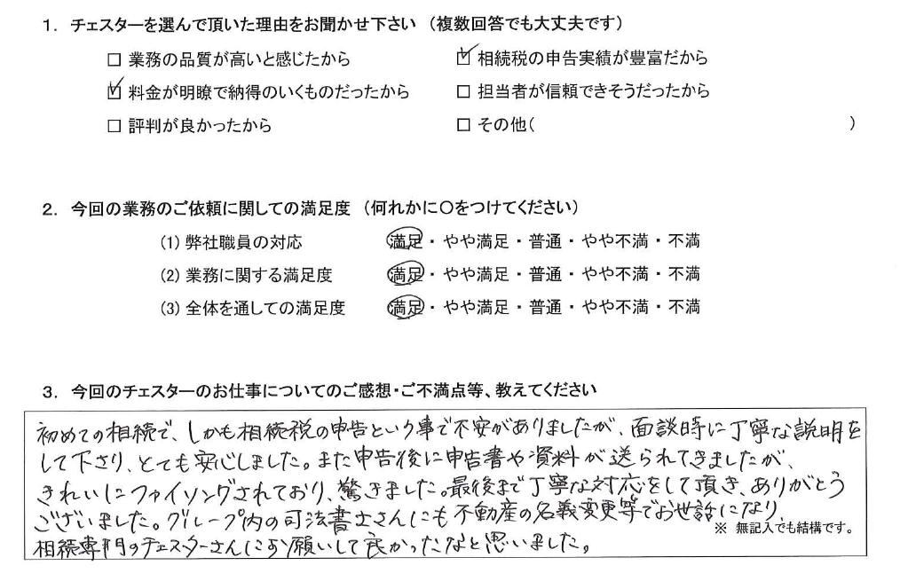 千葉 30代・女性(No.1073)