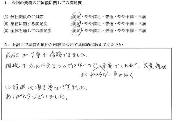東京 40代・女性(No.023)
