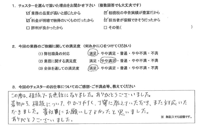東京 50代・男性(No.818)