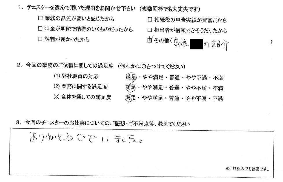 大阪 50代・女性(No.861)