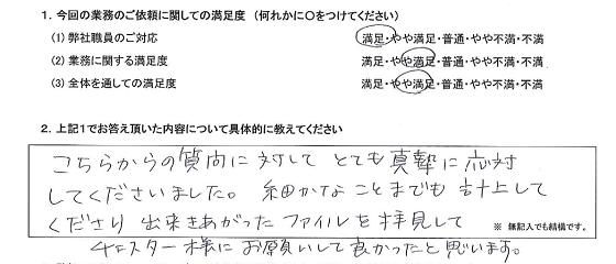 東京 50代・女性(No.271)