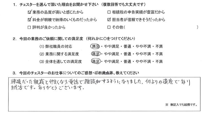 東京 60代・女性(No.720)