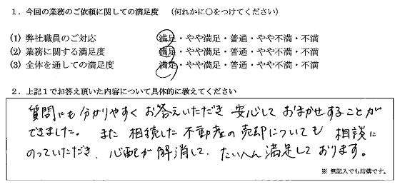 神奈川 40代・女性(No.218)